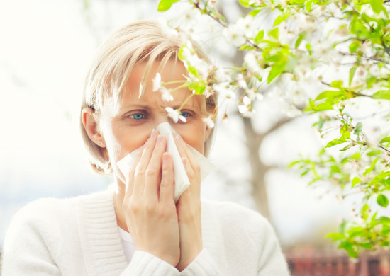 Being outdoors can be uncomfortable for seasonal allergy sufferers.