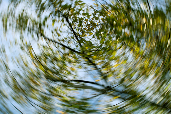 A blurry conceptual image from the perspective of a vertigo sufferer.